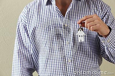 Cropped Shot Of Man Holding Keys