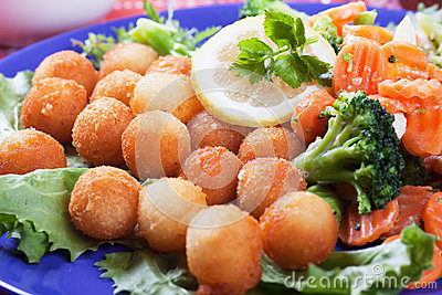 Croquetten met wortel en broccoli