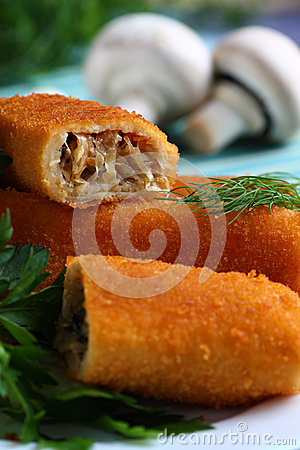 Croquettes with mushrooms