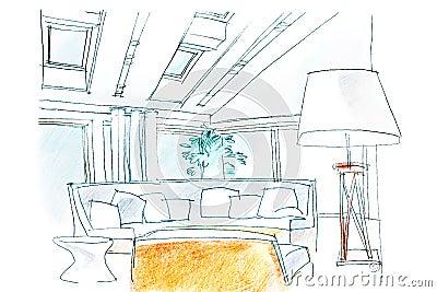 Croquis de salon photo stock image 56524861 for Croquis salon