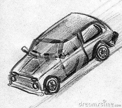 Croquis de voiture de jouet illustration stock image 46169121 - Croquis voiture ...