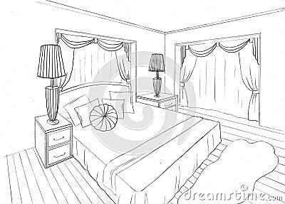 Croquis Graphique D 39 Un Appartement Int Rieur Images Libres