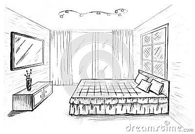Croquis graphique images stock image 29973694 - Croquis chambre a coucher ...