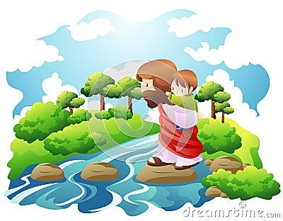 Crose a river