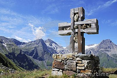 Cross in the alps