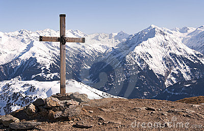 Cross in Alps