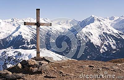 Cross in Alps