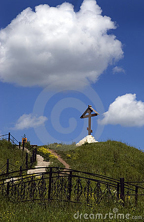 Free Cross And Blue Sky Stock Images - 3518954