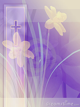 Free Cross And Daffodils Stock Photography - 448212