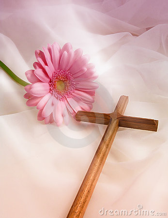 Free Cross And Romantic Flower Royalty Free Stock Photo - 704035