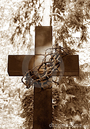 Free Cross And Thorns Royalty Free Stock Photos - 21393258