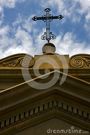 Free Cross At Top In Old Church Of Buenos Aires Stock Photos - 29173253