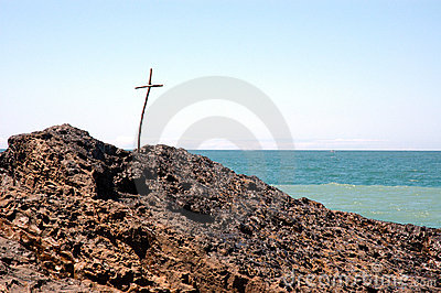 Cross at beach