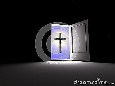 Cross. Belief beside