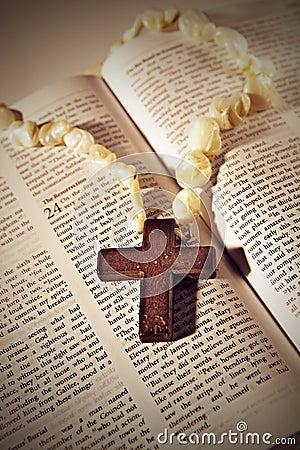Cross on the Bible