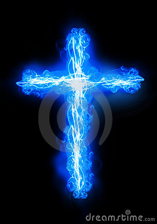 Free Cross Burning In Fire Royalty Free Stock Photography - 23300887