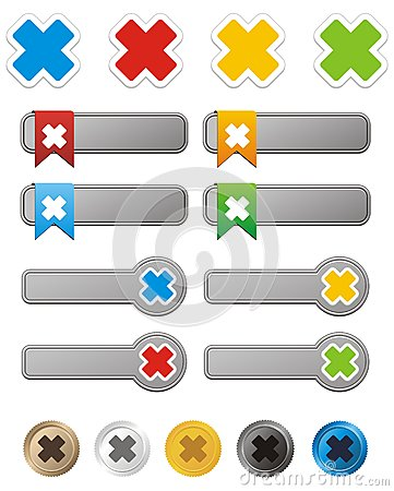 Cross button kit