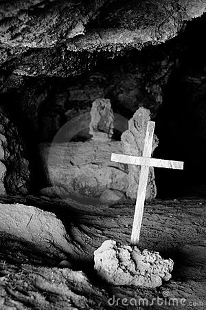 Cross on a cave
