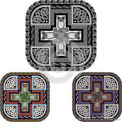 Cross and celtic an ornament