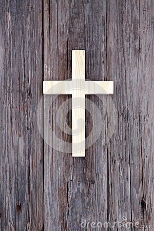 Free Cross Christian Wooden Wall Old Church Stock Photography - 49456142