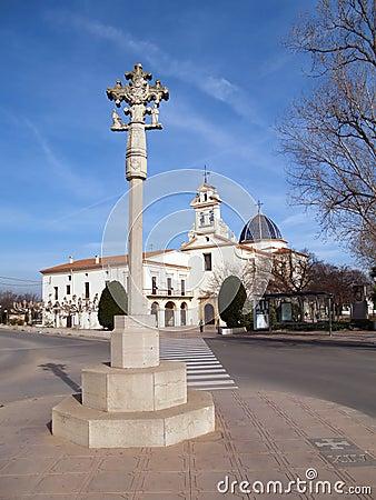 Cross and church