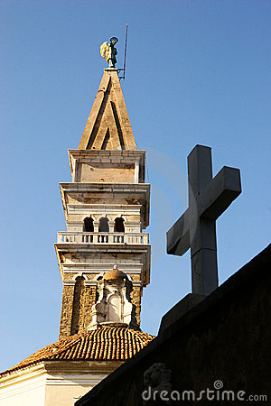 Free Cross & Church Tower Royalty Free Stock Photography - 4712457