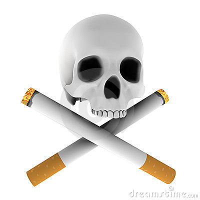 Cross Cigarette Skull Royalty Free Stock Photography - Image: 8280537