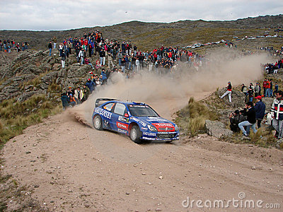 Cross country rally car Editorial Image
