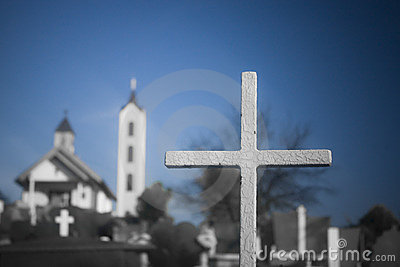Cross at a country side graveyard