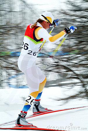 Cross country skier Editorial Photo