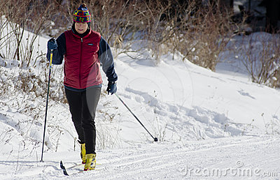 Cross Country Skier Editorial Stock Photo