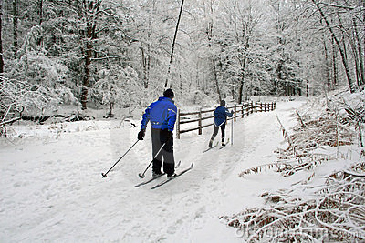 Cross-Country Skiing.