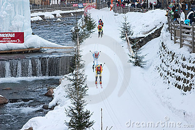 Cross country skiing Editorial Stock Image