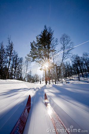 Cross Country Skiing Motion Royalty Free Stock Photos - Image: 4691128