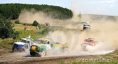 Cross-country truck race Editorial Photo