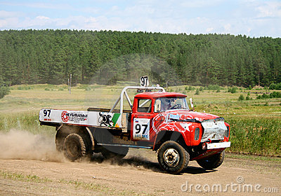 Cross-country truck race Editorial Image