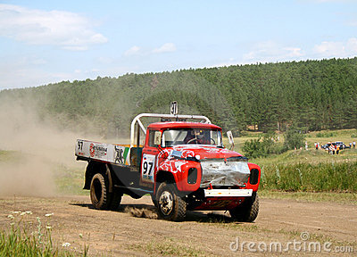 Cross-country truck race Editorial Photography