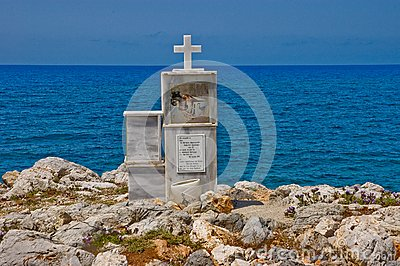 Cross at Cretan Shore