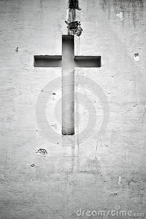Free Cross Figure Religion Wall Stock Image - 79135121