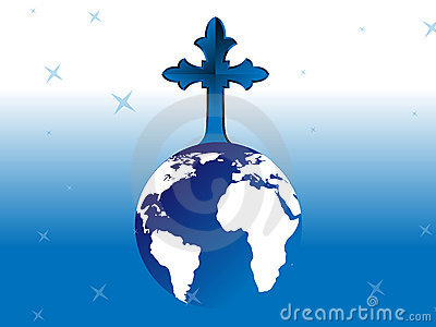 Cross on Globe