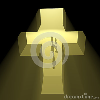 Cross of golden light