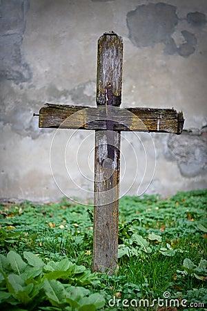 Cross on grave