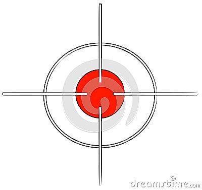 Cross hair target