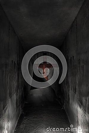 Cross in the hell dark