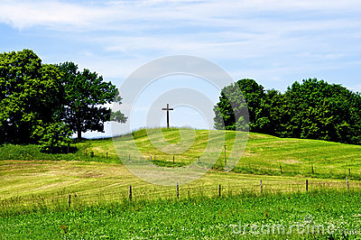 Cross on a Hill