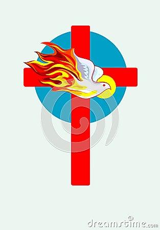 Cross and Holy spirit
