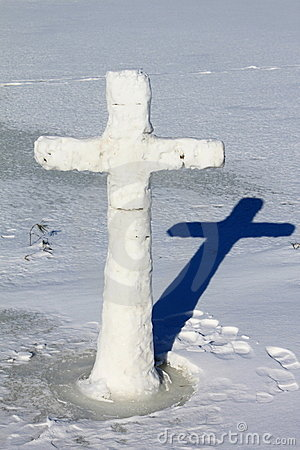 The cross on the ice
