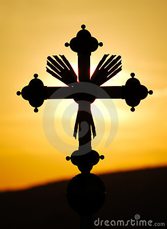 Free Cross In Sunset Royalty Free Stock Photography - 1229797
