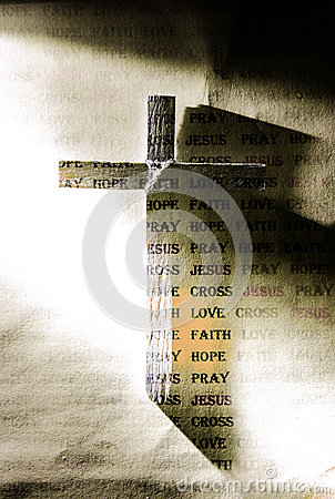Cross of Jesus and word