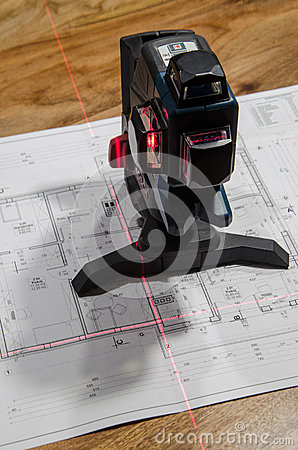 Free Cross Laser Level Stock Photography - 49127722